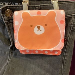 """Daiso Clip-on """"Pocket"""" with clips"""